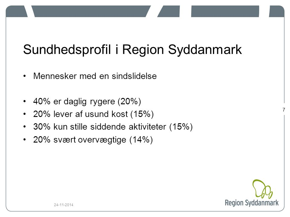 Sundhedsprofil i Region Syddanmark