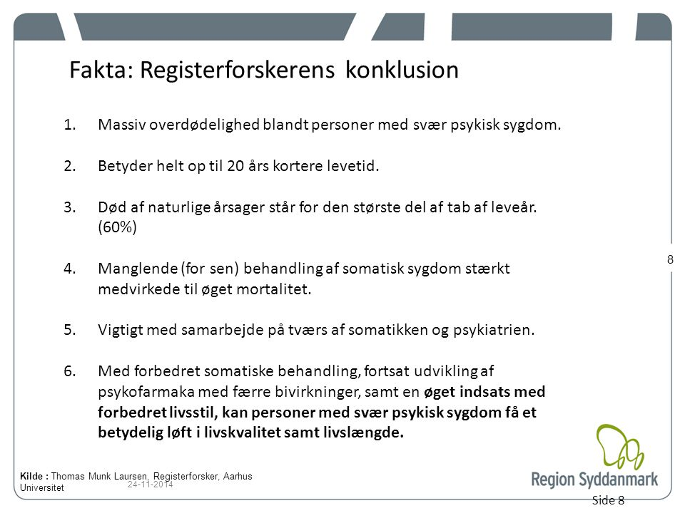Fakta: Registerforskerens konklusion