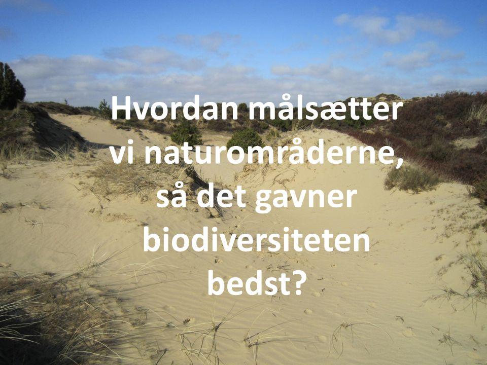 b Hvordan målsætter vi naturområderne, så det gavner biodiversiteten bedst