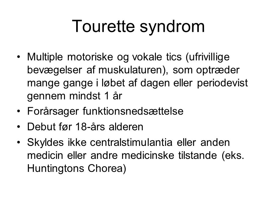Tourette syndrom