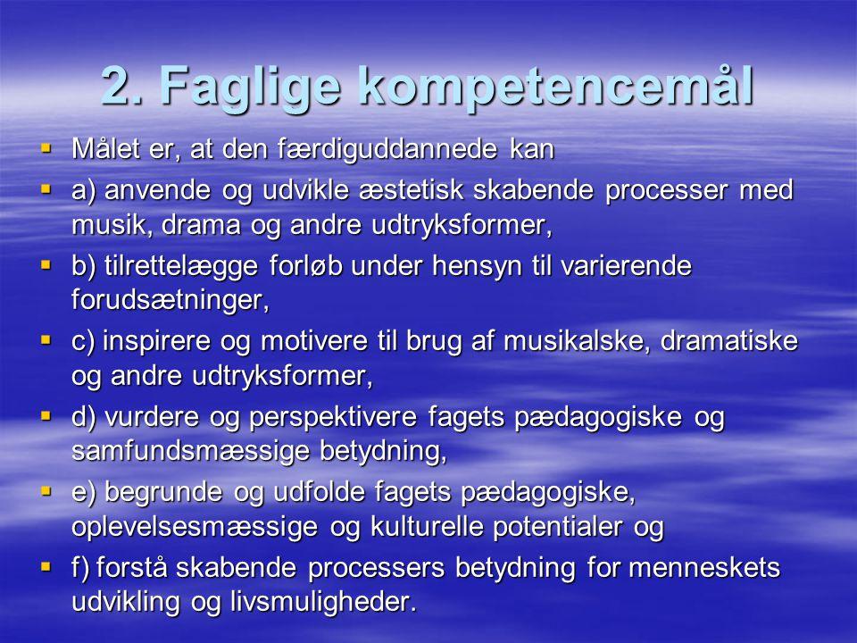 2. Faglige kompetencemål