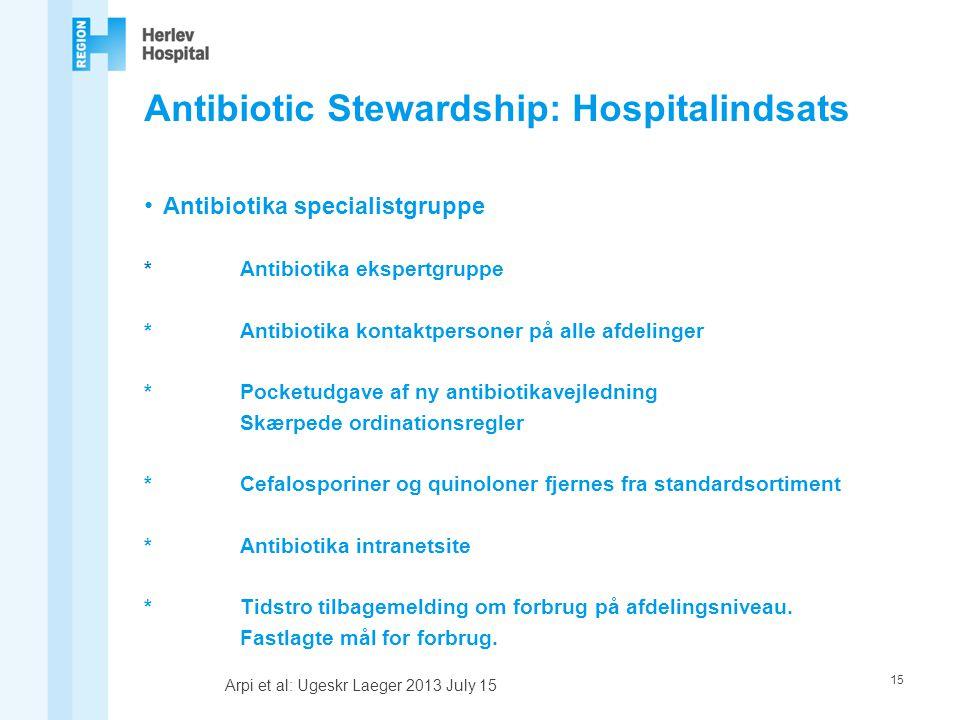 Antibiotic Stewardship: Hospitalindsats