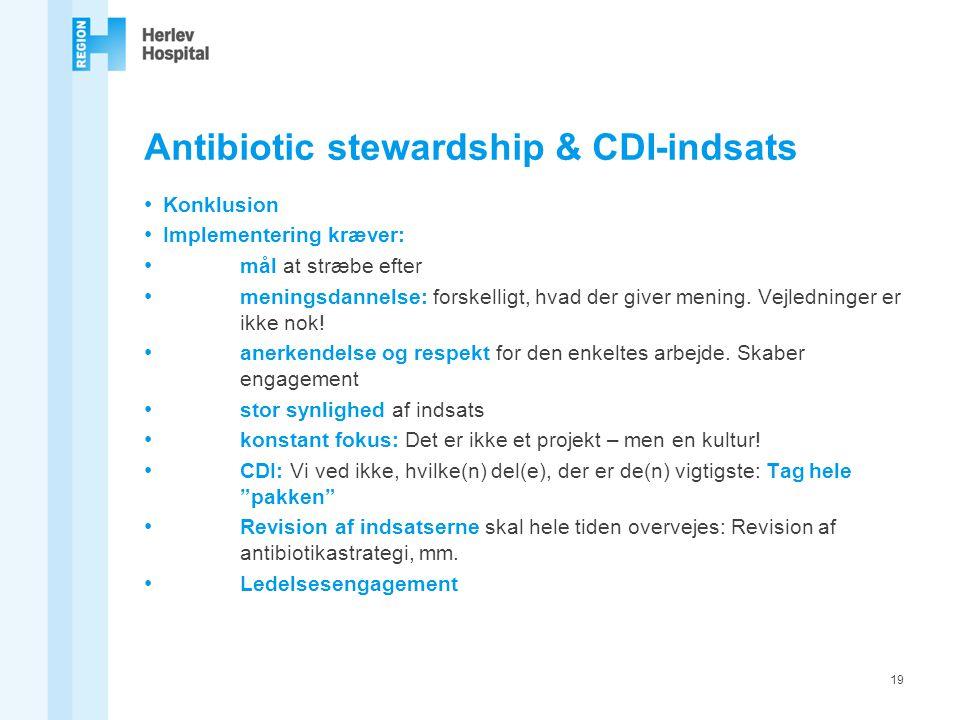 Antibiotic stewardship & CDI-indsats