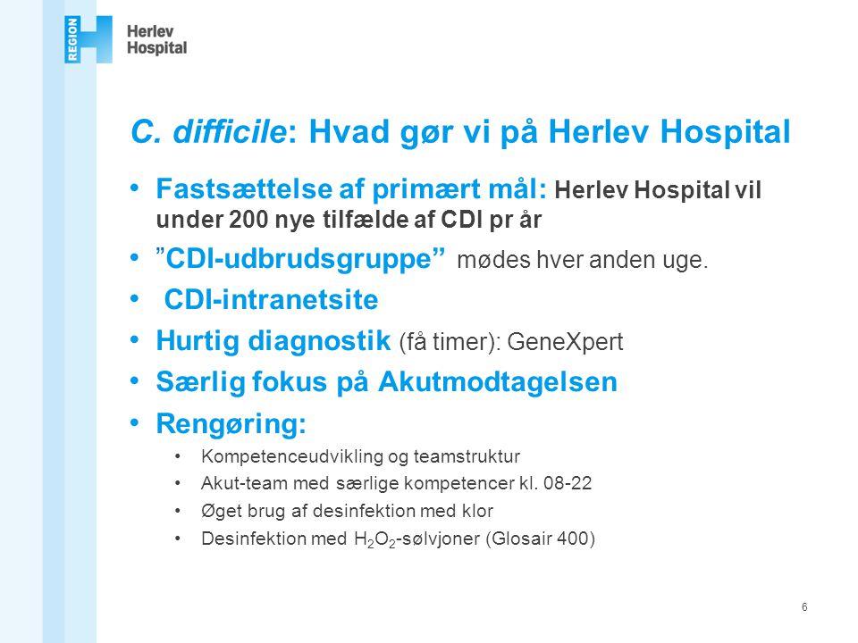 C. difficile: Hvad gør vi på Herlev Hospital