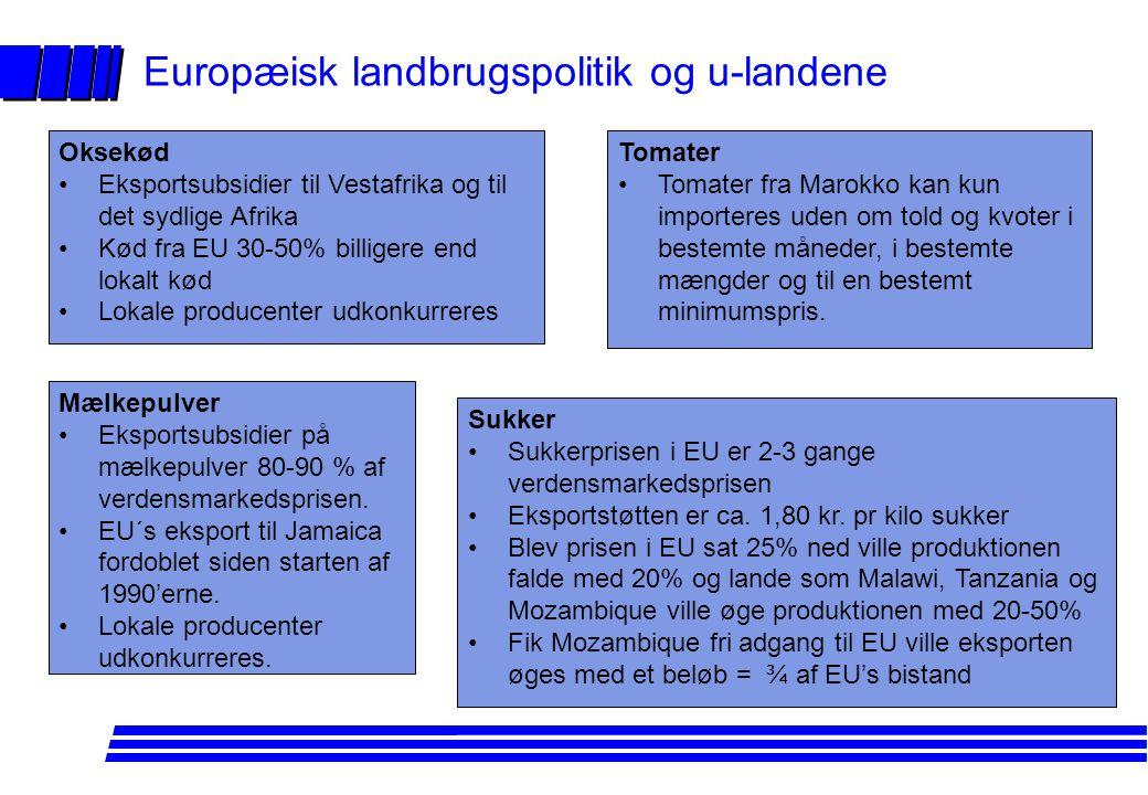 Europæisk landbrugspolitik og u-landene