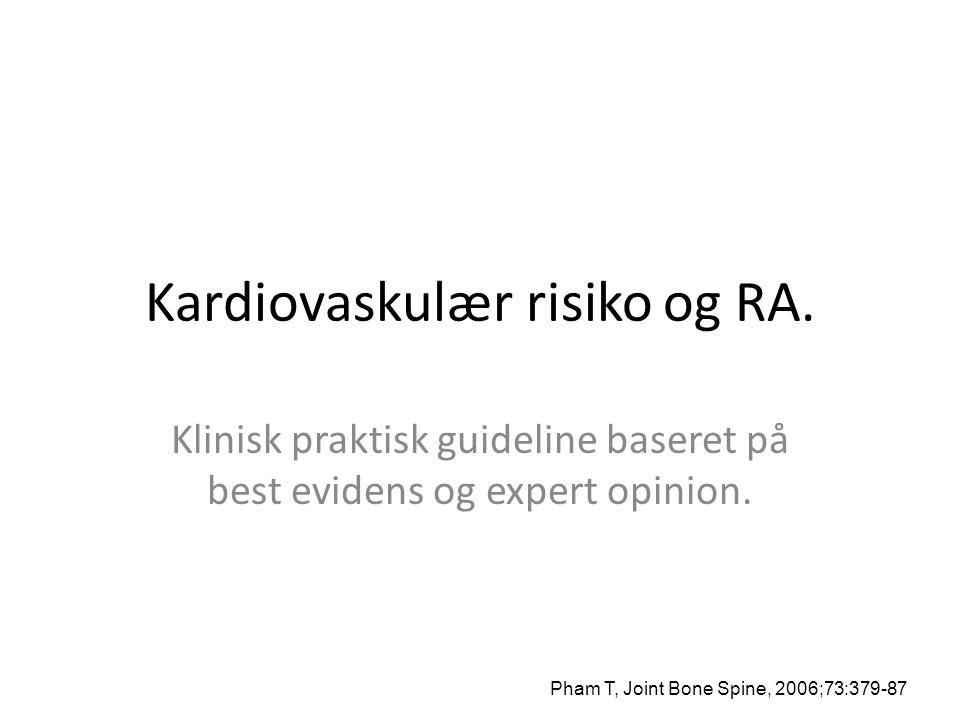 Kardiovaskulær risiko og RA.