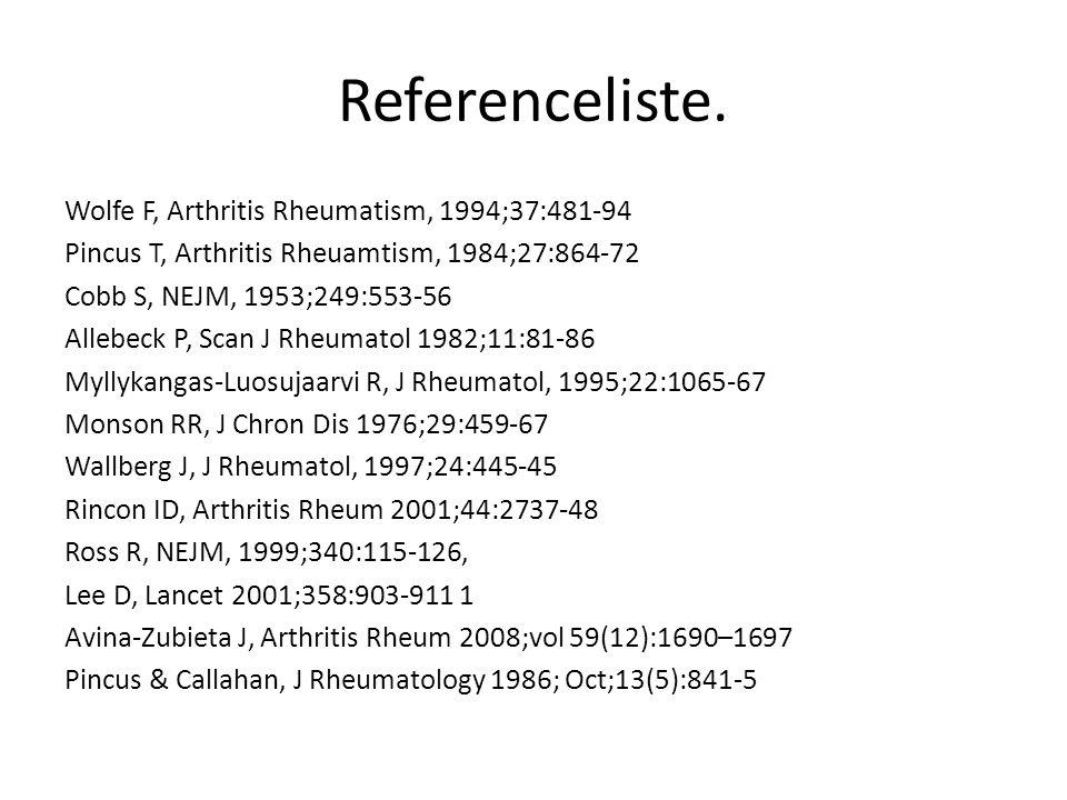 Referenceliste.