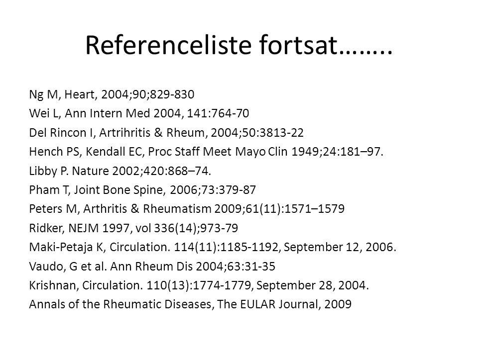 Referenceliste fortsat……..