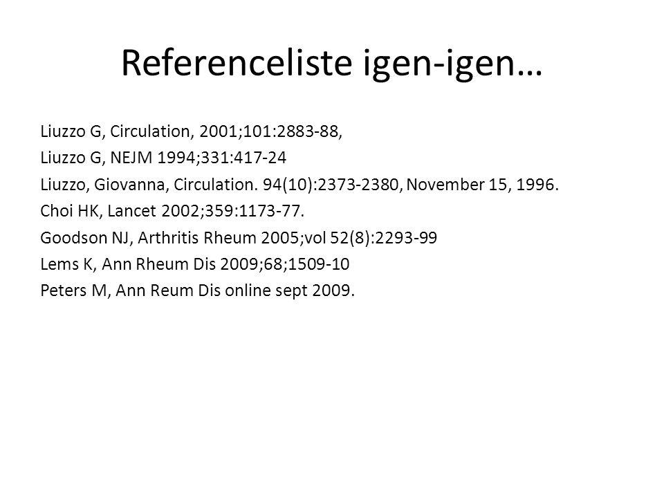 Referenceliste igen-igen…