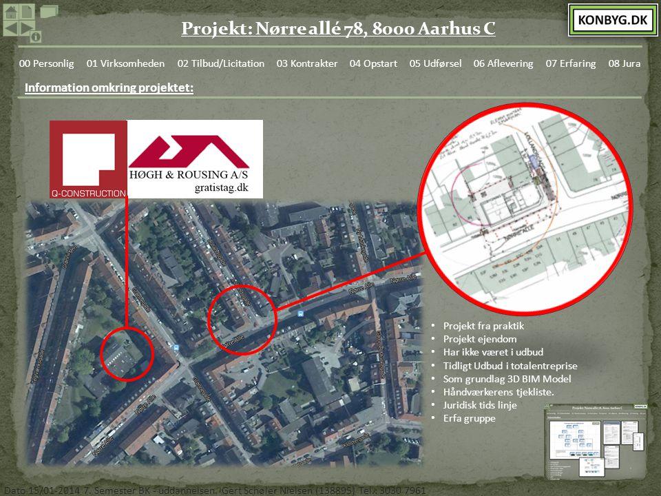 Information omkring projektet: