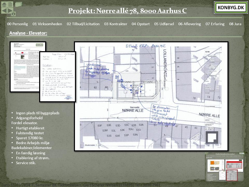 Analyse - Elevator: Ingen plads til byggeplads Adgangsforhold