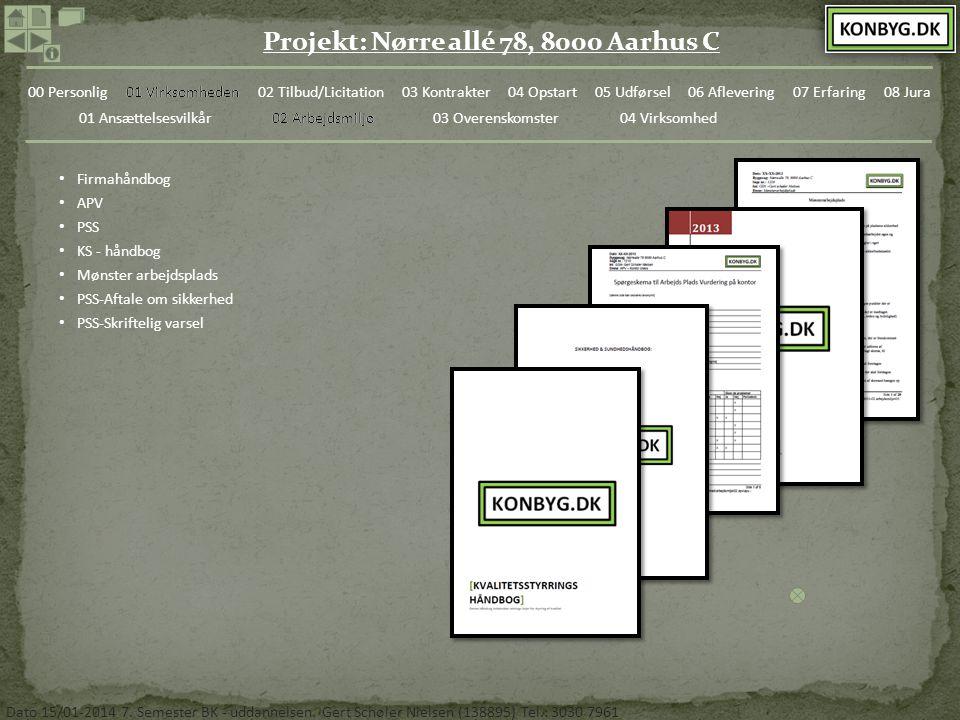 02 Arbejdsmiljø Firmahåndbog. APV. PSS. KS - håndbog. Mønster arbejdsplads. PSS-Aftale om sikkerhed.
