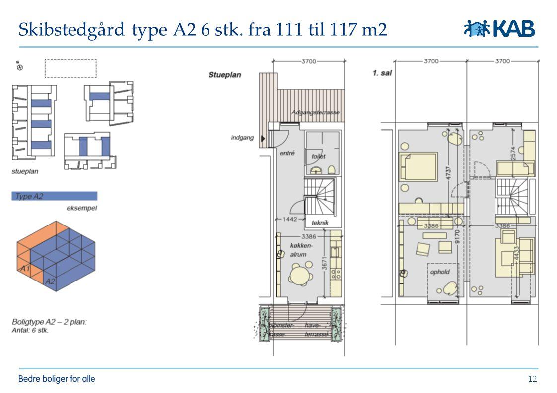 Skibstedgård type A2 6 stk. fra 111 til 117 m2