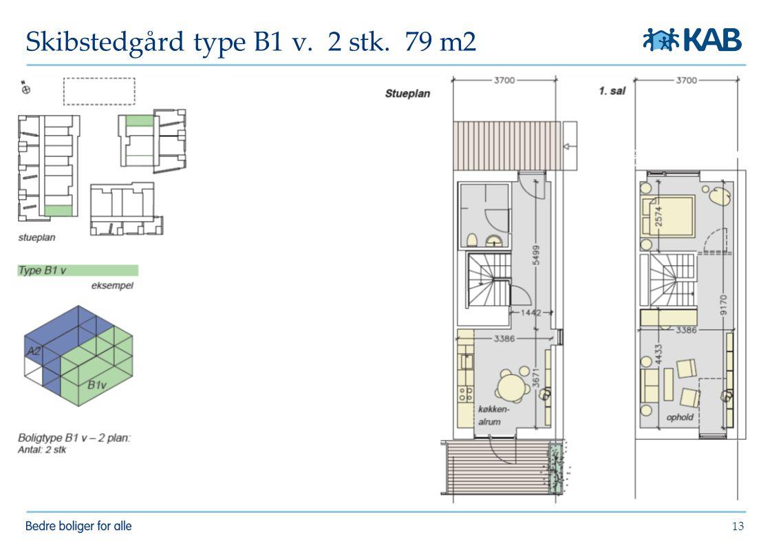 Skibstedgård type B1 v. 2 stk. 79 m2