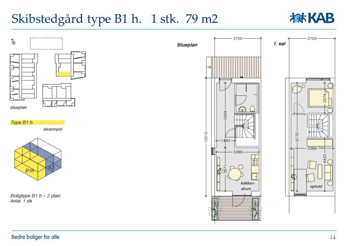 Skibstedgård type B1 h. 1 stk. 79 m2