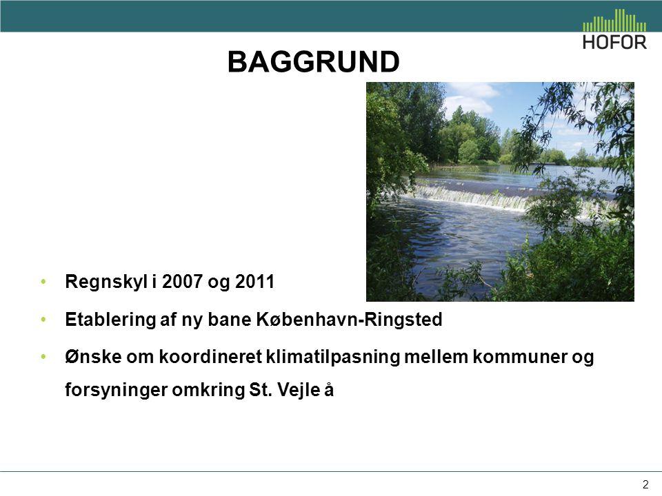 Baggrund Regnskyl i 2007 og 2011. Etablering af ny bane København-Ringsted.