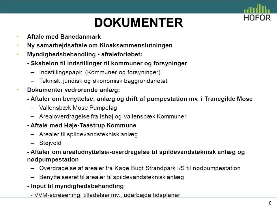 Dokumenter Aftale med Banedanmark