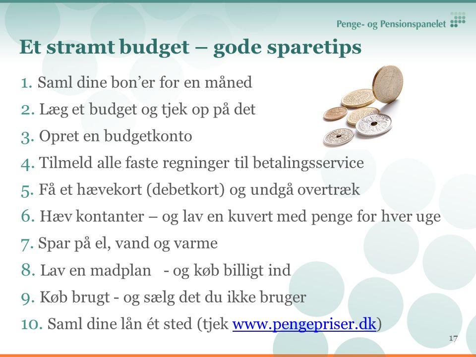 Et stramt budget – gode sparetips