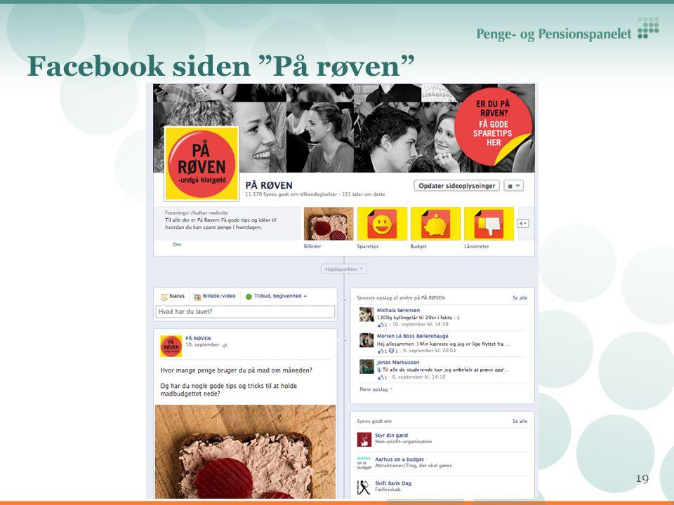 Facebook siden På røven