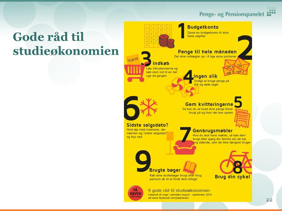 Gode råd til studieøkonomien
