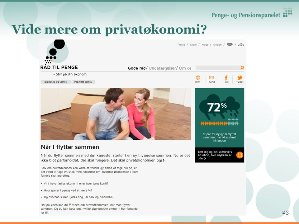 Vide mere om privatøkonomi
