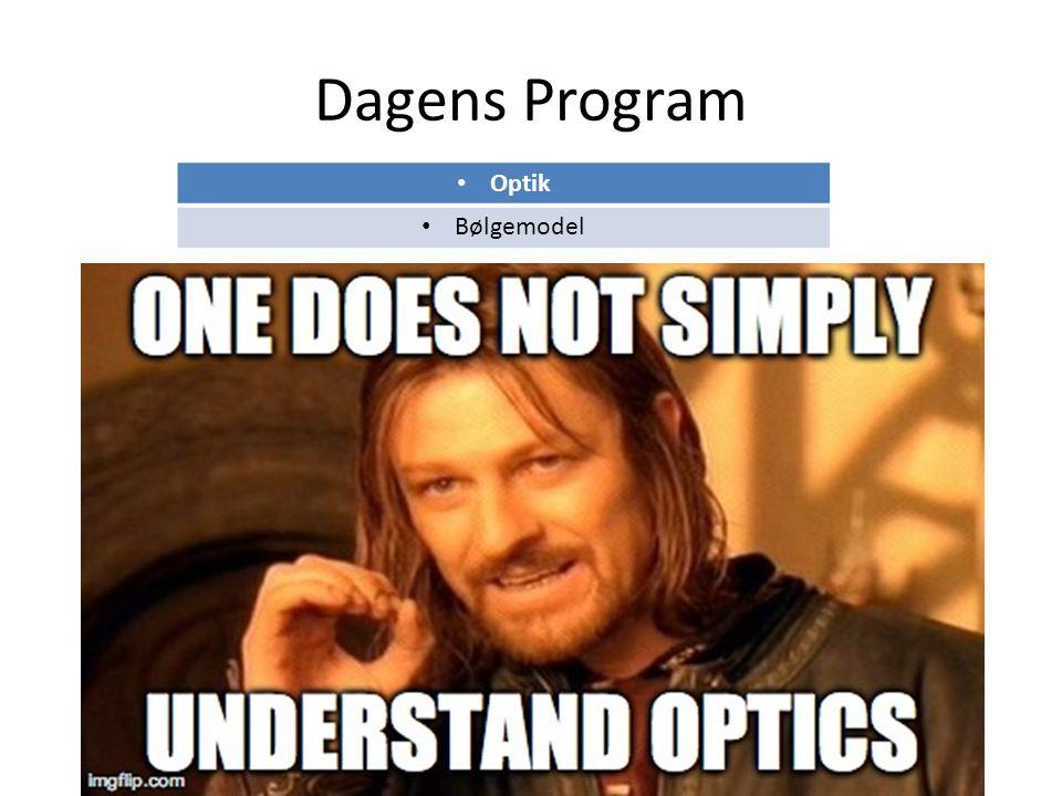 Dagens Program Optik Bølgemodel