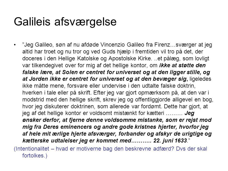 Galileis afsværgelse