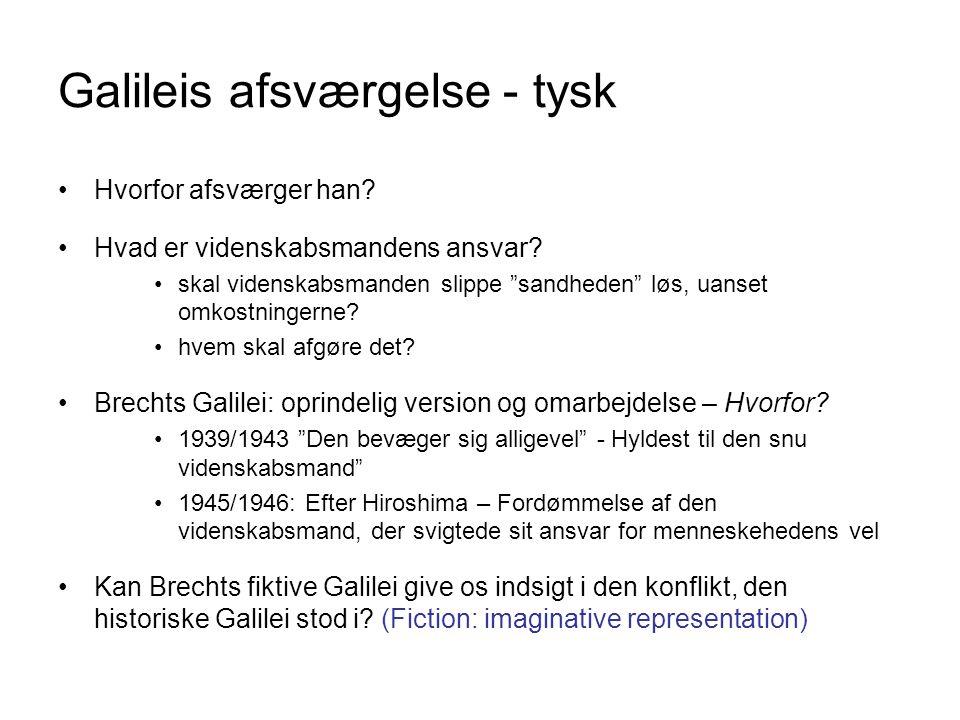 Galileis afsværgelse - tysk