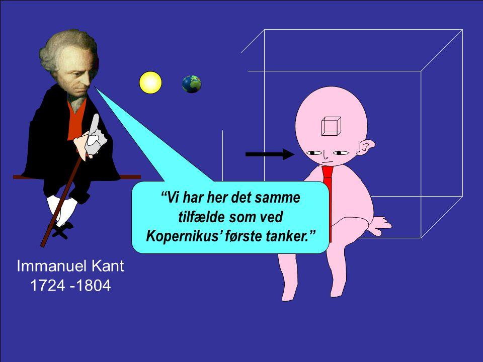 Vi har her det samme tilfælde som ved Kopernikus' første tanker.