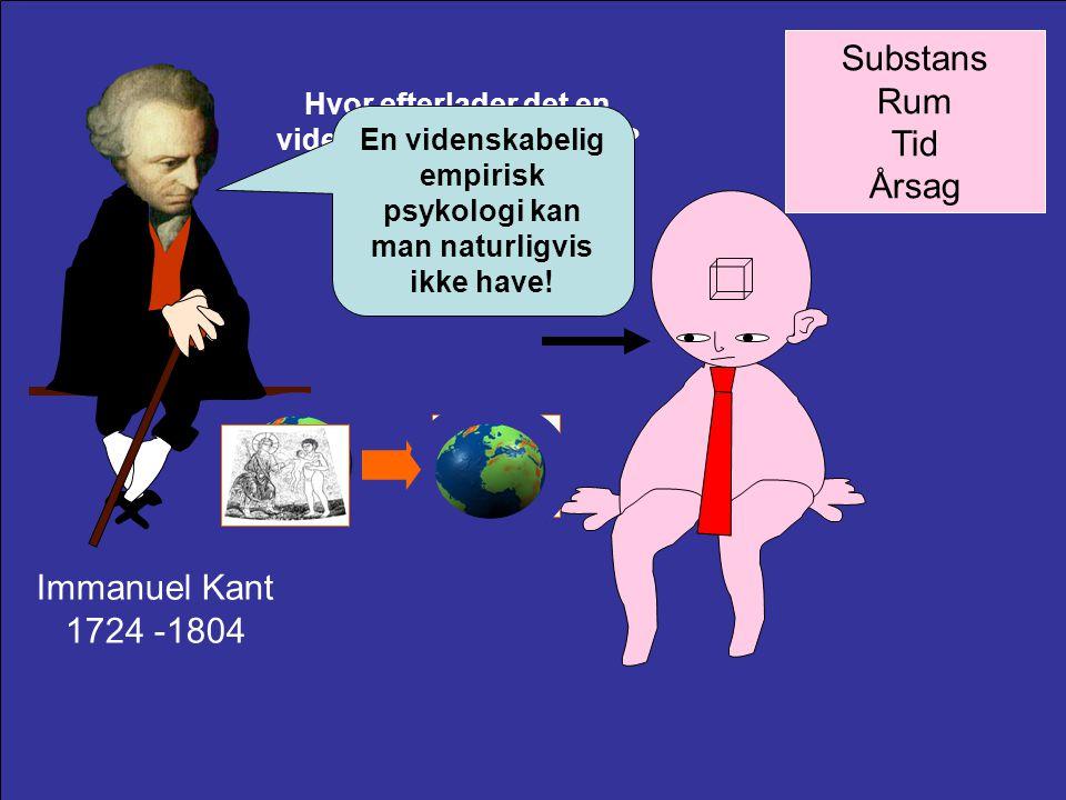 Substans Rum Tid Årsag Immanuel Kant 1724 -1804