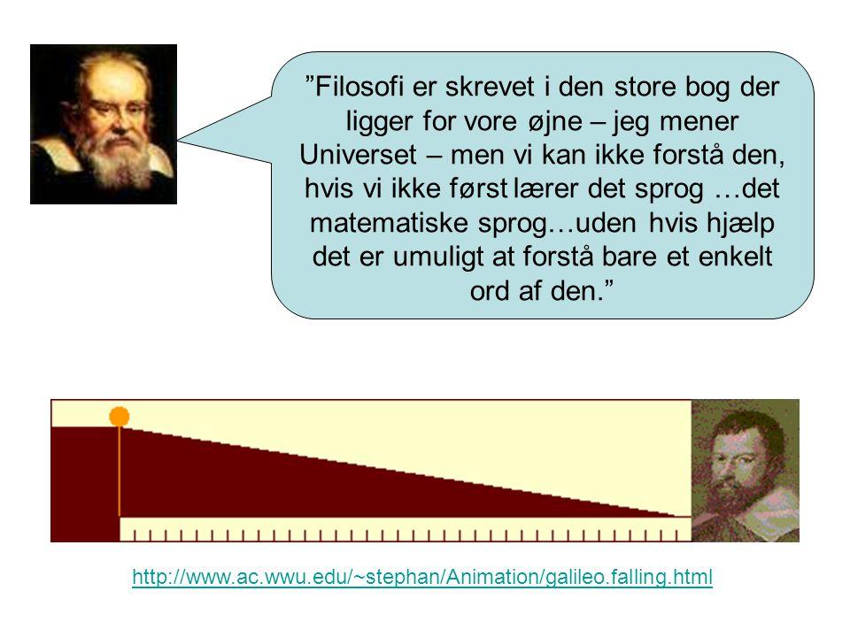 Filosofi er skrevet i den store bog der ligger for vore øjne – jeg mener Universet – men vi kan ikke forstå den, hvis vi ikke først lærer det sprog …det matematiske sprog…uden hvis hjælp det er umuligt at forstå bare et enkelt ord af den.