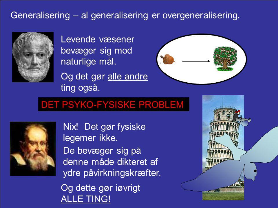 Generalisering – al generalisering er overgeneralisering.