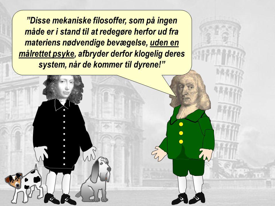 Disse mekaniske filosoffer, som på ingen måde er i stand til at redegøre herfor ud fra materiens nødvendige bevægelse, uden en målrettet psyke, afbryder derfor klogelig deres system, når de kommer til dyrene!