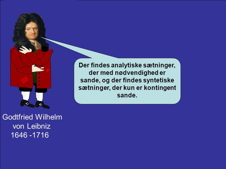 Godtfried Wilhelm von Leibniz 1646 -1716