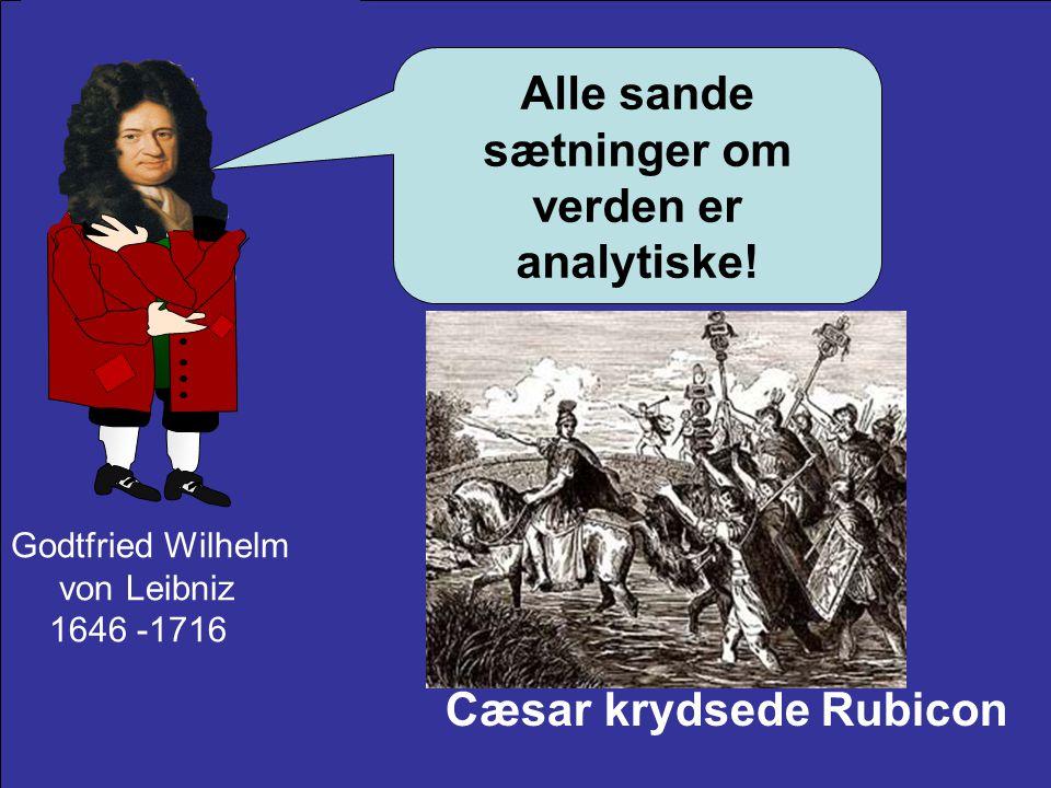 Alle sande sætninger om verden er analytiske!