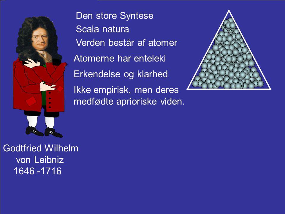 Den store Syntese Scala natura. Verden består af atomer. Atomerne har enteleki. Erkendelse og klarhed.