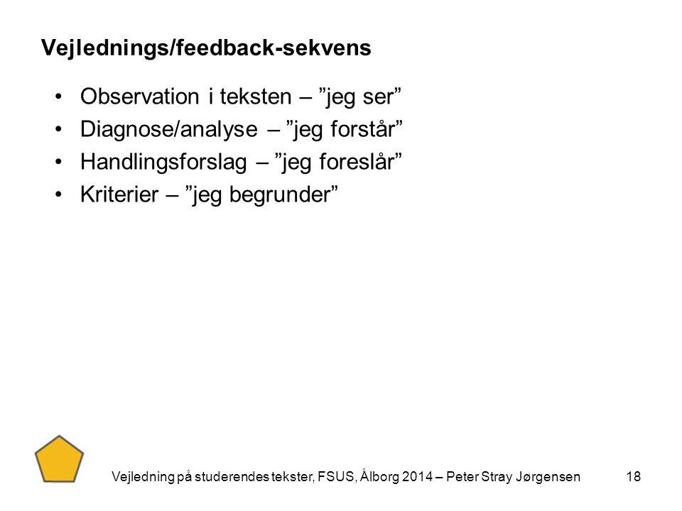 Vejlednings/feedback-sekvens