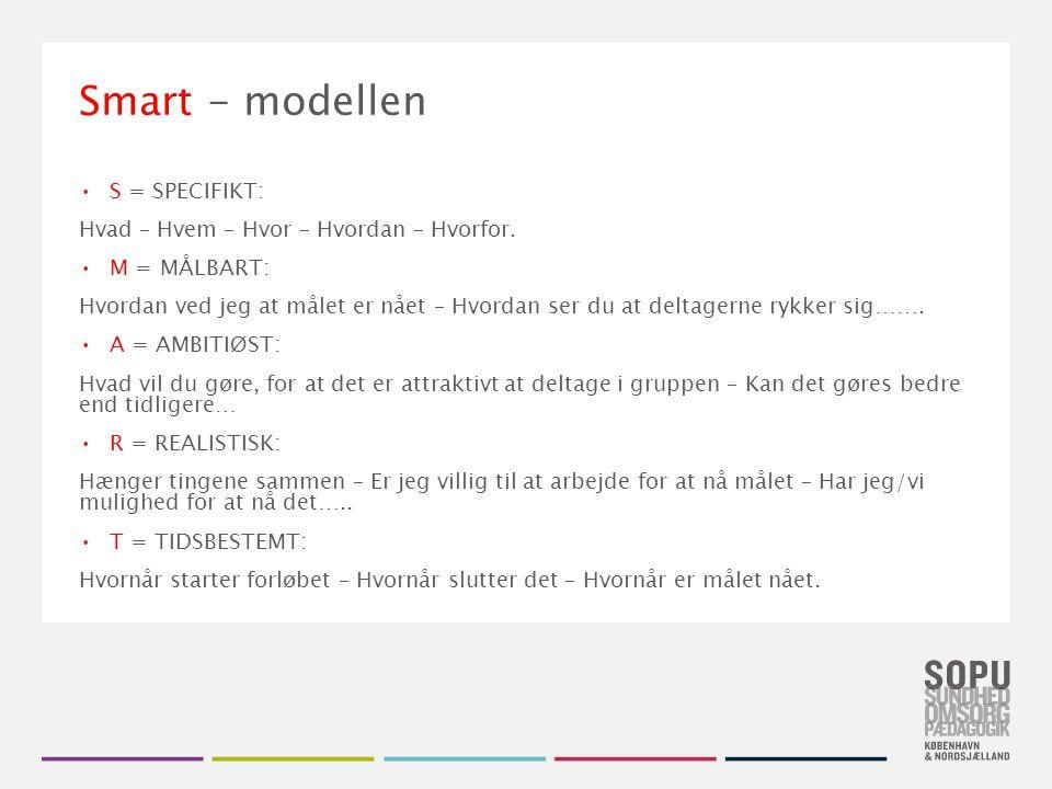 Smart - modellen S = SPECIFIKT: