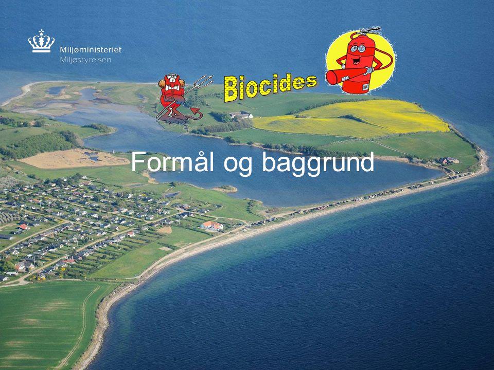Biocides Formål og baggrund Frontpage