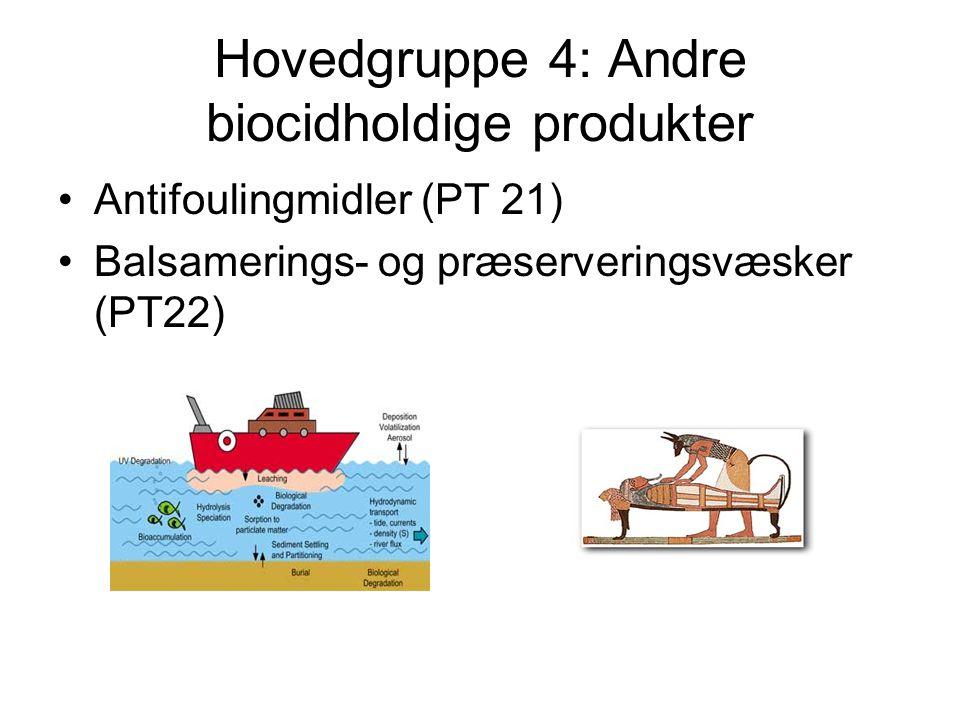 Hovedgruppe 4: Andre biocidholdige produkter