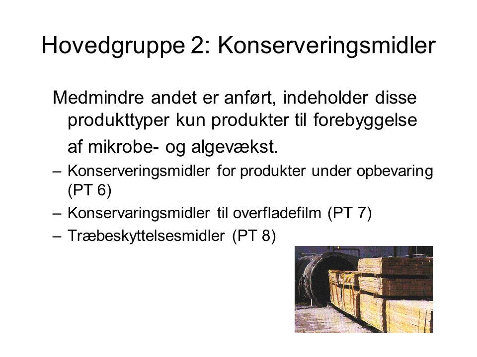 Hovedgruppe 2: Konserveringsmidler