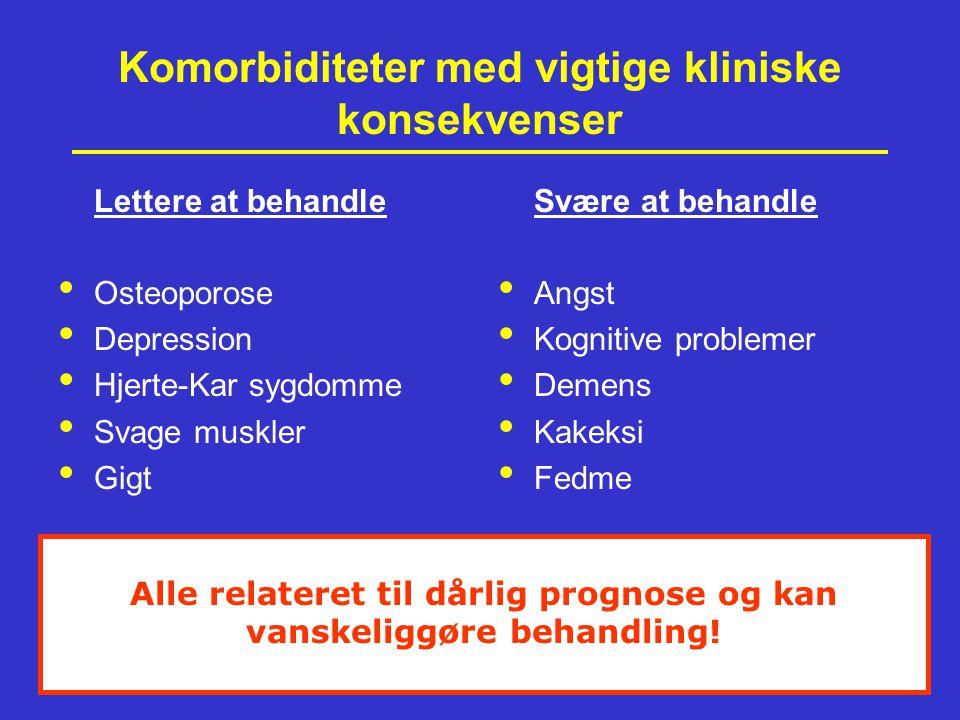 Komorbiditeter med vigtige kliniske konsekvenser