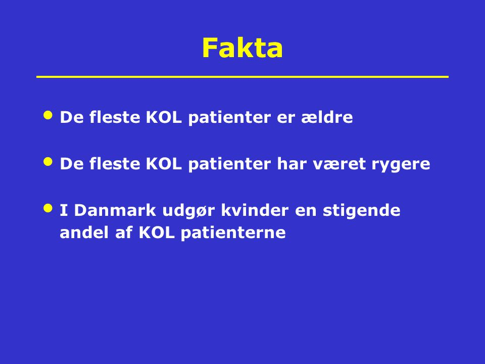 Fakta All promote imortant comorbidities!