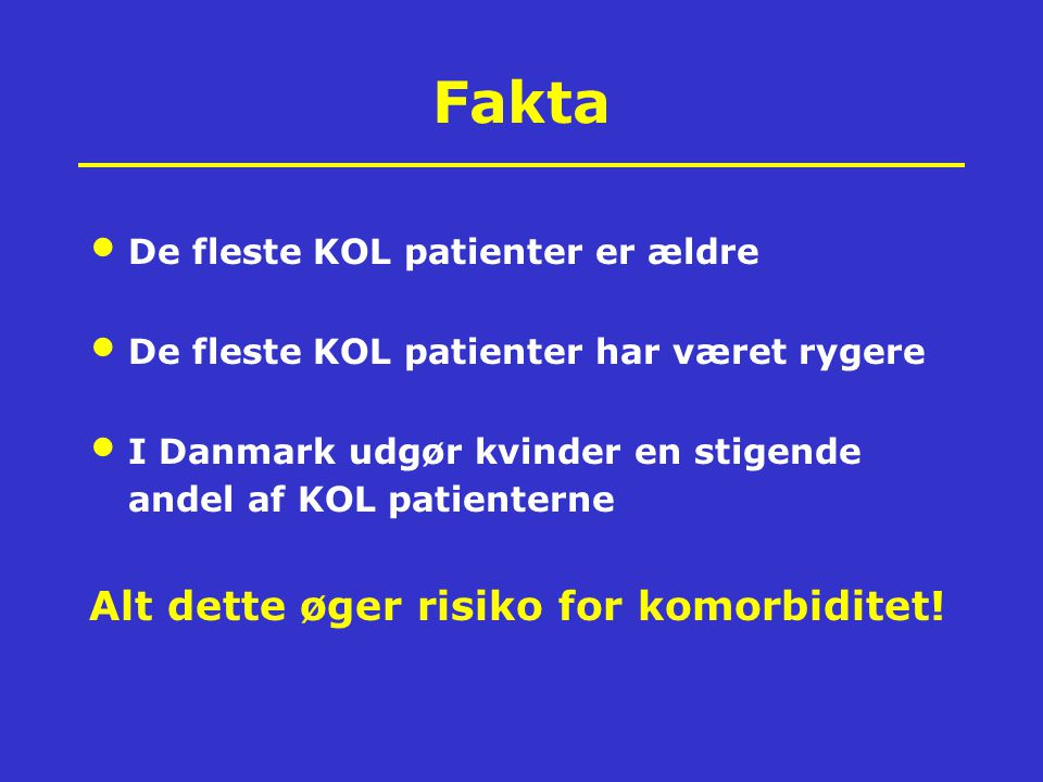 Fakta Alt dette øger risiko for komorbiditet!
