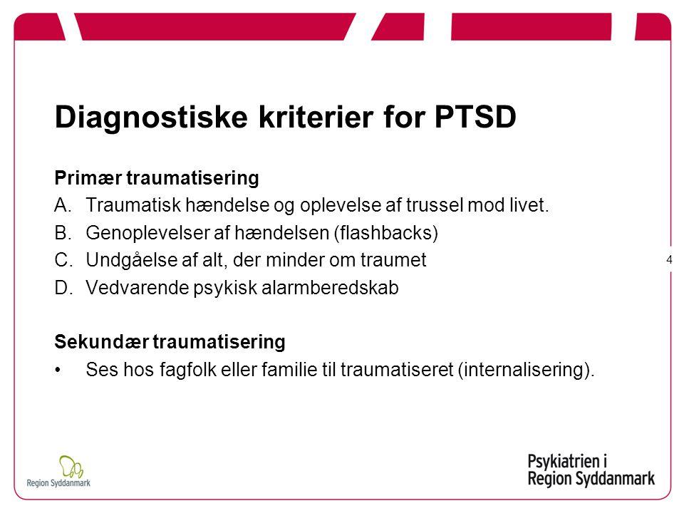 Diagnostiske kriterier for PTSD