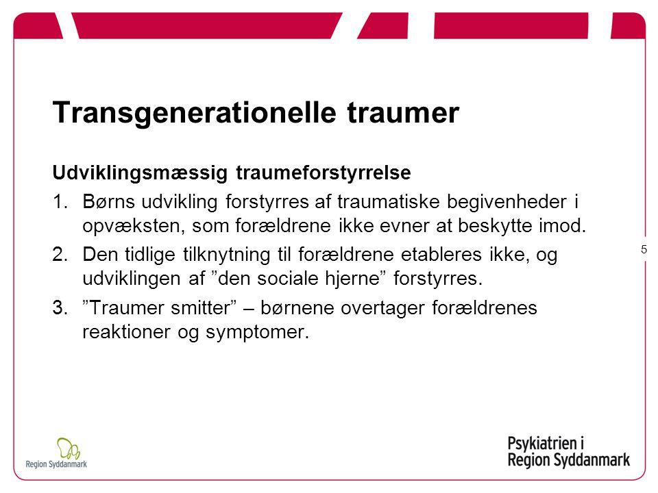 Transgenerationelle traumer