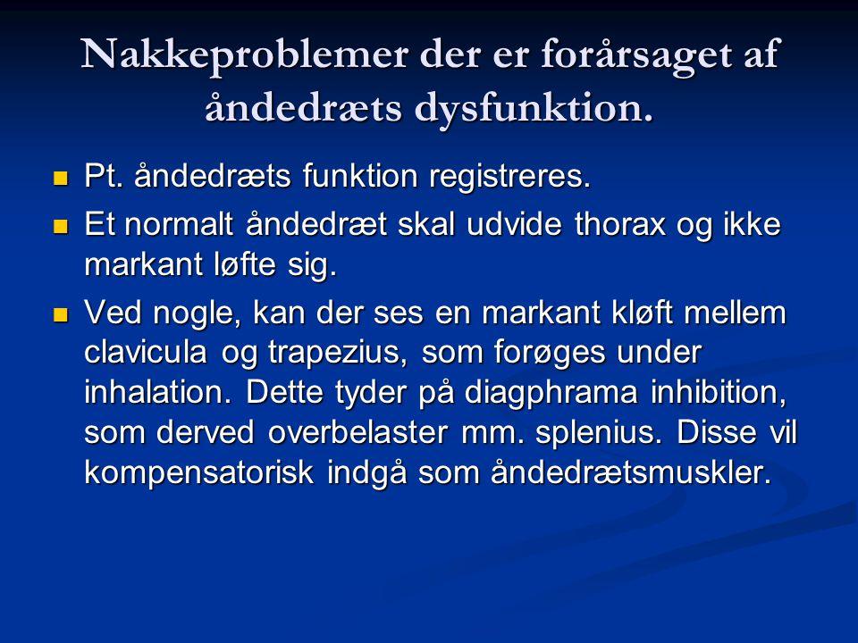 Nakkeproblemer der er forårsaget af åndedræts dysfunktion.