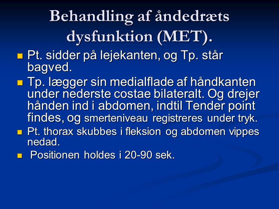 Behandling af åndedræts dysfunktion (MET).