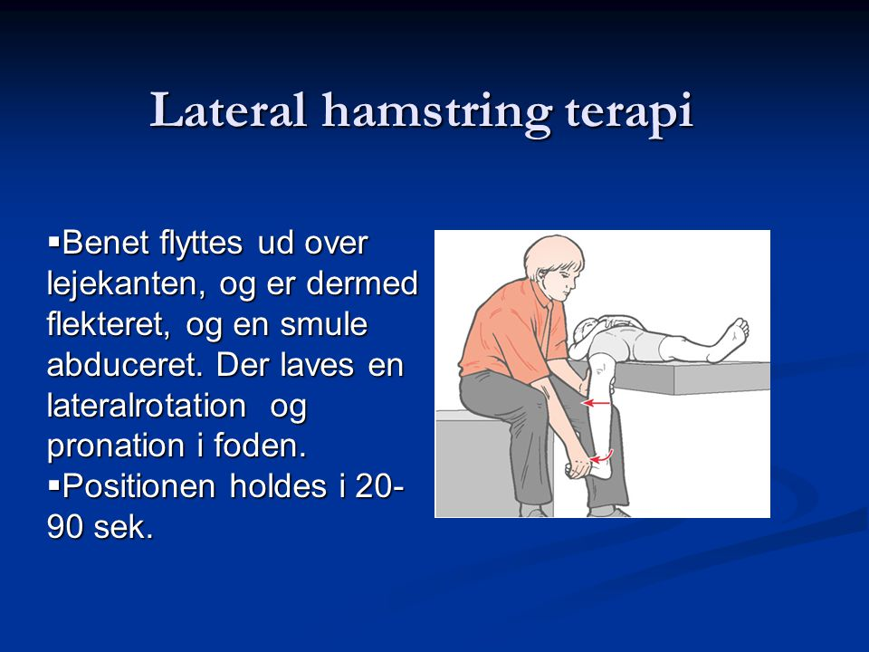Lateral hamstring terapi