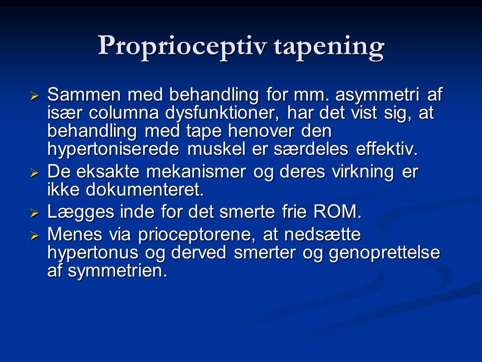 Proprioceptiv tapening